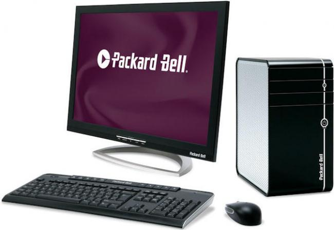 how to make screen smaller on packard bell