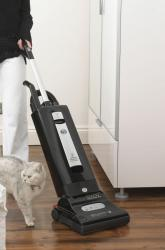 sebo x4 pet vacuum in use
