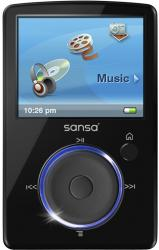 sandisk sansa fuze 2g black mp3 player