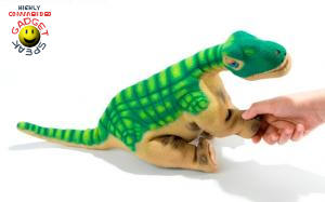 pleo dinosaur giving paw