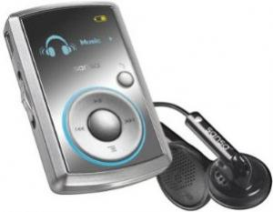 sandisk sansa clip mp3 player with headphones