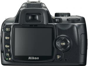 nikon d60 digital slr dslr camera rear view