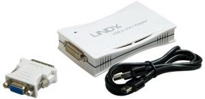 lindy USB to DVI adaptor with connector
