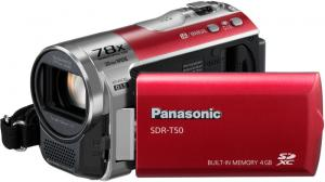 panasonic sdr t50 camcorder camera flash card
