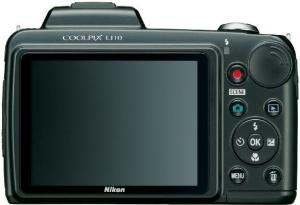 nikon coolpix L110 digital slr camera rear view