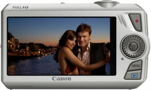 canon ixus 1000HS compact digital camera rear silver