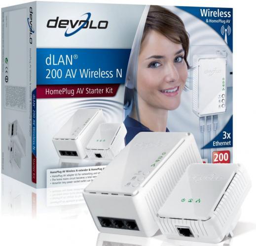 review devolo dlan 200 av wireless homeplug av starter kit. Black Bedroom Furniture Sets. Home Design Ideas