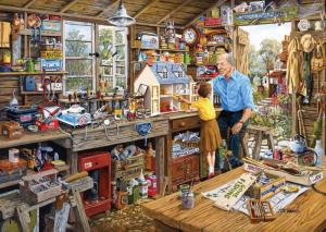 Gibsons Grandads Workshop Jigsaw Puzzle