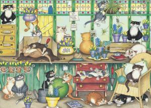 Ravensburger Crazy Cats In The Garden Room Puzzle