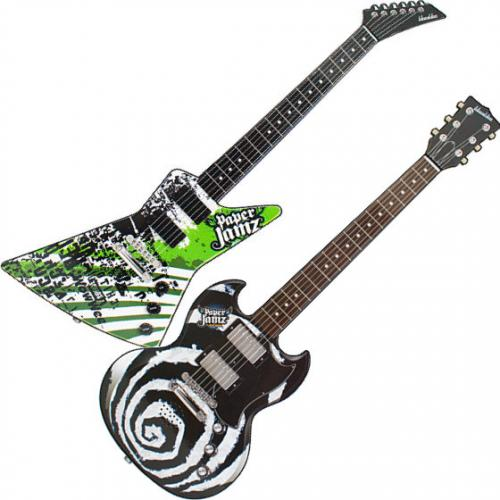 where to buy paper jamz guitar In steps the paper jamz guitar, a string-less, paper replica of a guitar that allows you to play three songs by pretending to strum along to the music  you'll get what's on the design you buy.