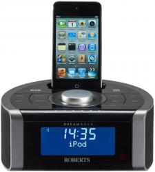 Roberts DREAMDOCK DAB FM Clock Radio iPod dock