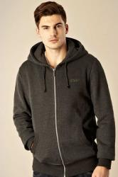 cvox dark grey built in headphones zip through hoodie