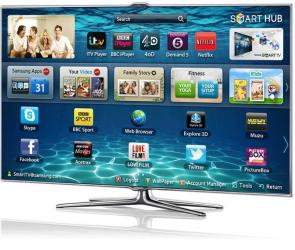 Samsung UE46UF7000 big screen TV television
