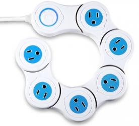Quirky Pivot Power 6 Outlet Flexible Surge Protector Power Strip UK