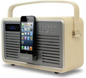 View Quest Retro DAB Radio with Lightning Connector for iPod and iPhone Dock