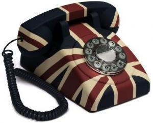 GPO Vintage British Union Jack Rotary Telephone