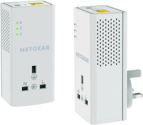 Netgear PLP1200 100UKS 1200 Mbps Powerline Ethernet Adapter Homeplug