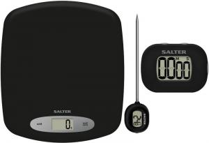 Salter Kitchen Scale TimerThermometer Gift Set