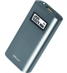 PNY 5200 mAh PowerPack Alu Digital Charcoal External Rechargeable