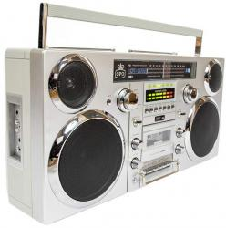 GPO Brooklyn Portable 1980s Retro Style Music System