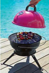 Argos pink table-top BBQ