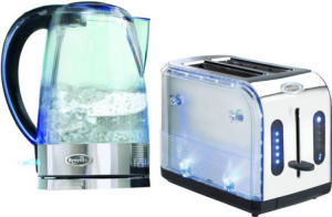Breville Blue Ice kettle and toaster