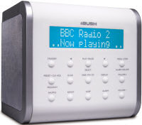 Bush DAB radio and CD player CR06CDWHT