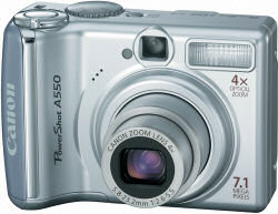 Canon A550 Digital Compact Camera