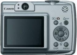 Canon A550 Digital Compact Camera - rear view of controls