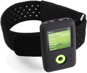 Creative Zen V-Plus with arm-band