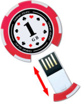 Poker chip USB memory stick