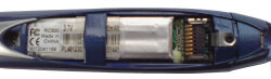 DocuPen RC800 with cover removed showing battery
