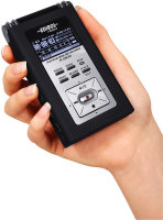Hand-held Edirol RO9HR voice recorder