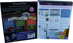 Inside cover of Encyclopedia Britannica 2008 box