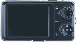 GE-1235 digital camera - controls rear-view