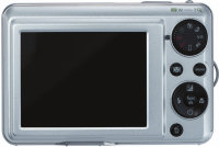 GE G2 digital camera - silver rear view of controls
