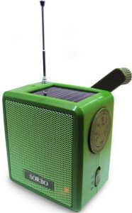 Gizoo solar and wind-up radio