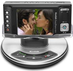 Kodak EasyShare V610 digital camera on docking station