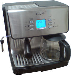 Krups XP2070 combination espresso and filter coffee machine