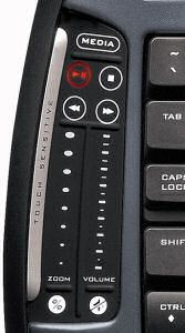 Logitech MX5000 Laser Keyboard - scroll pads