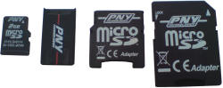 PNY 4-in-1 SD card set
