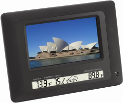 Polaroid Digital Picture Frame with integrated weather station
