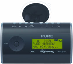 Pure Digital DAB radio with integrated FM transmitter