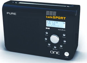 Pure One TalkSport DAB radio