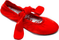 Red Foot Revolution - after party slippers in red