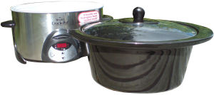 Rival crock-pot showing ceramic pot