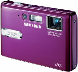 Samsung i85 compact digital camera - front