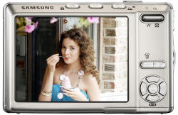 Samsung i85 compact digital camera - rear