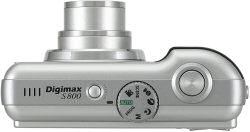 Samsung S800 digital camera top view