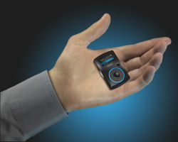 SanDisk Sansa Clip 2GB MP3 Player in hand